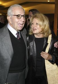 Angie Dickinson and Walter Mirisch at the Academy of Motion Picture Arts and Sciences centennial tribute to Oscar winning director George Stevens.