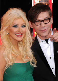 Singer Christina Aguilera and Steve Antin at the California premiere of