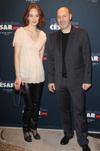 Raphaelle Agogue and Cedric Klapisch at the Chaumet's Cocktail party for Cesar's Revelations 2011 in Paris.