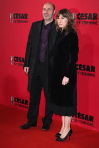 Cedric Klapisch and Lola Doillon at the Cesar Film Awards 2008.
