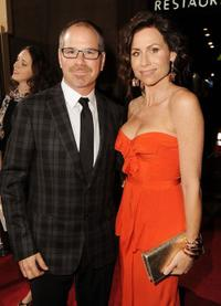 Richard J. Lewis and Minnie Driver at the screening of