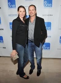 Emily Christie and Richard J. Lewis at the E1 Entertainment party during the 35th Toronto International Film Festival.