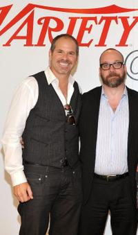 Richard J. Lewis and Paul Giamatti at the Variety Studio during the 35th Toronto International Film Festival.
