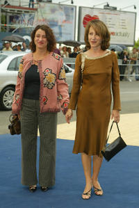 Noemie Lvovsky and Nathalie Baye at the premiere of