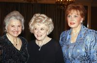 Phyllis Diller, Caroline Rose Hunt and Rhonda Fleming Carlsonat the Junior League of Los Angeles Carnivale Gala.
