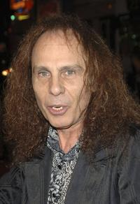Ronnie James Dio at the premiere of