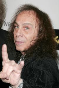 Ronnie James Dio at the Warner Music Group 2008 Grammy Awards after party.