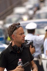 Michael Winterbottom on the set of