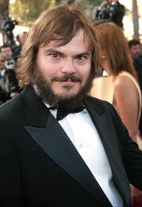 "Jack Black at the screening of ""Shrek 2"" in Cannes, France."
