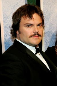 "Jack Black at the premiere of ""King Kong"" in New York City."