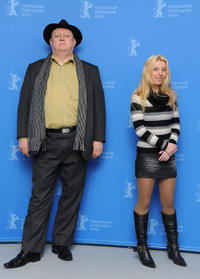 Mihaly Kormas and Erika Bok at the photocall of