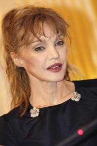 Arielle Dombasle at the knight in the Order of Legion of honour.