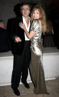 Arielle Dombasle and her husband Bernard Levy at the Pinault's private dinner the during the 52nd annual Biennale.