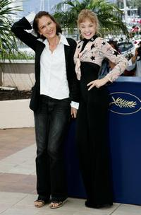 Arielle Dombasle and Anne Fontaine at the photocall promoting