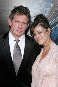 Thomas Haden Church and wife Mia Church at the 2007 Tribeca Film Festival for the premiere of