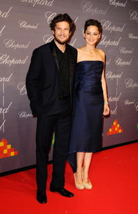 Guillaume Canet and Marion Cotillard at the Chopard Trophy during the 62nd International Cannes Film Festival.