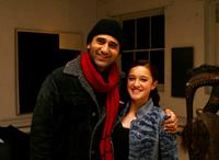 Cliff Curtis and Keisha Castle-Hughes at the cocktail reception of New Zealand Filmmarkers and