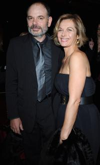 Jean-Pierre Darroussin and his girlfriend Valerie Stroh at the Cesar Film Awards 2008.