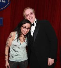 Janeane Garofalo and Brad Bird at the premiere of