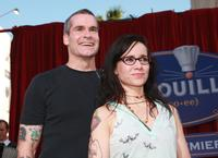 Janeane Garofalo and Henry Rollins at the premiere of