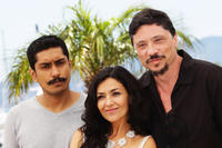 Tenoch Huerta, Dolores Heredia and Carlos Bardem at the photocall of