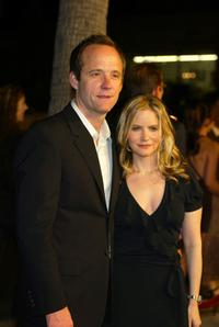 John Benjamin Hickey and Jennifer Jason Leigh at the premiere of