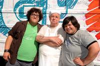 Ari Stidham, Paul Dooley and Harvey Guillen  at the ABC Family