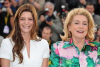 Chiara Mastroianni and Catherine Deneuve at the 61st Cannes International Film Festival.