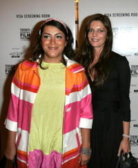 Marjane Satrapi and Chiara Mastroianni at the Toronto International Film Festival 2007.