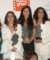 Candela Pena, Micaela Nevarez and Elvira Minguez at the Goya Cinema Awards.