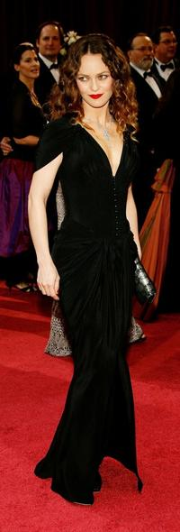 Vanessa Paradis at the 80th Annual Academy Awards.