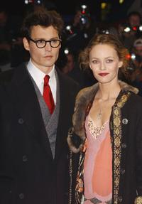 Johnny Depp and Vanessa Paradis at the UK Charity premiere of