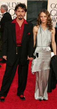 Johnny Depp and Vanessa Paradis at the 63rd Annual Golden Globe Awards.
