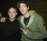 Brad Renfro and Adrien Brody at the after-party premiere of