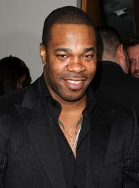 Busta Rhymes at the Barneys New York launch of Versace menswear.