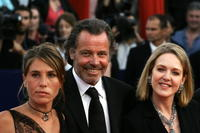 Agnes Soral, Michel Leeb and Mathilde Seigner at the 30th Deauville American Film Festival.