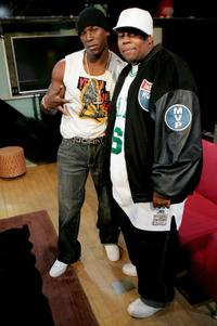 Tyrese and Kenan Thompson at the MTV's Total Request Live.