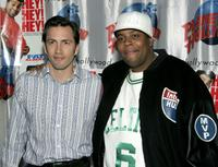 Andrew Shue and Kenan Thompson at the Planet Hollywood.