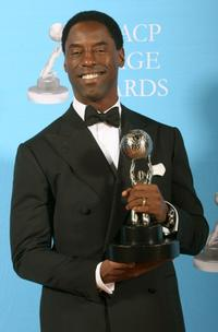 Isaiah Washington at the press room during the 38th annual NAACP Image Awards.