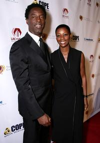 Isaiah Washington and his wife Jenisa Marie Washington at the King of Hearts gala.