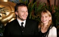 Heath Ledger and Michelle Williams at the Oscar Nominees Luncheon.