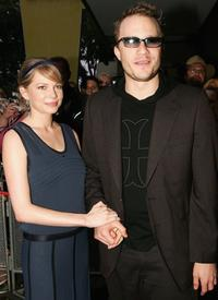 Michelle Williams and Heath Ledger at the red carpet premiere of