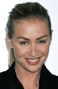Portia de Rossi at the launch of Frank Gehry's premiere jewelry collection for Tiffany and Co.