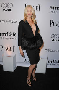 Angela Featherstone at the amfAR Inspiration Gala in California.