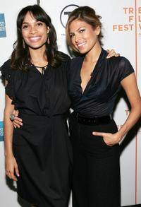 Rosario Dawson and Eva Mendes at the