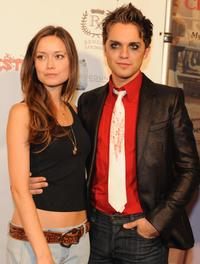 Summer Glau and Thomas Dekker at the premiere of