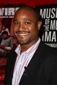 Seth Gilliam at the panel discussion with the cast of