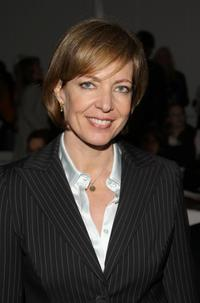 Allison Janney at the Pamella Roland 2008 fashion show during Mercedes-Benz Fashion Week Fall 2008.
