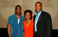 Monroe Kent, Montego Glover and Michael McElroy at the Broadway's Celebrity Benefit for Hurricane Relief.