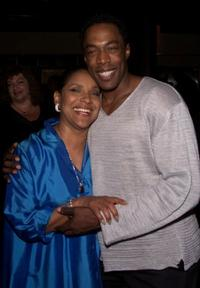 Phylicia Rashad and Michael McElroy at the after party of the opening of